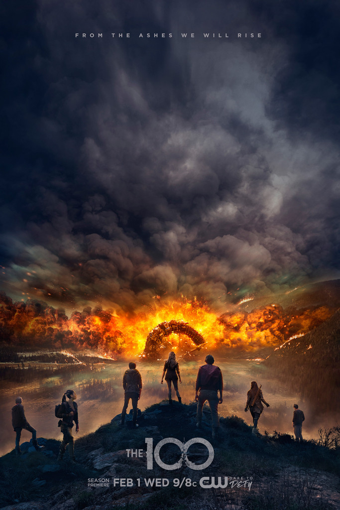 The 100, season 4 poster