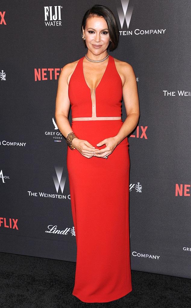 Alyssa Milano, Weinstein Company Golden Globes After party