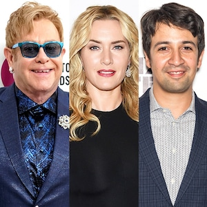 Elton John, Lin-Manuel Miranda, Kate Winslet