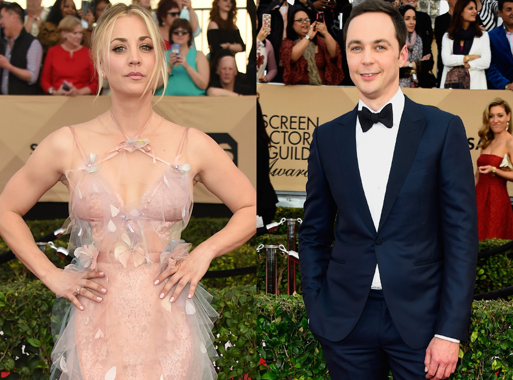 Kaley Cuoco, Jim Parsons, 2017 SAG Awards