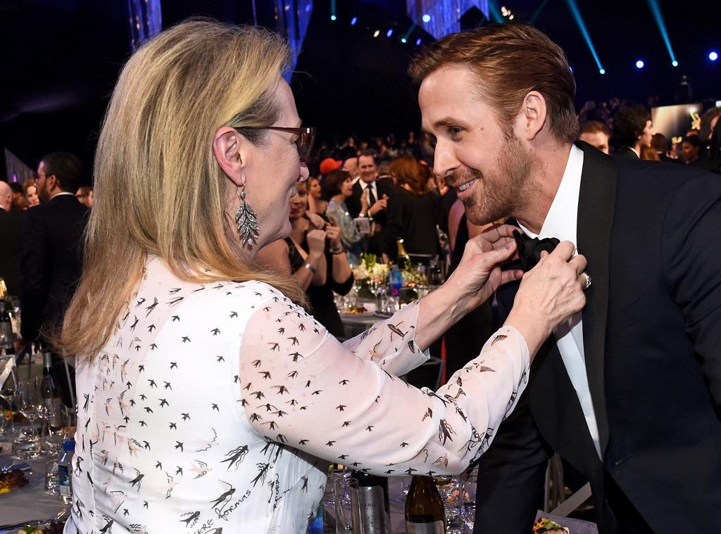 Ryan Gosling, Meryl Streep, 2017 SAG Awards, Candids