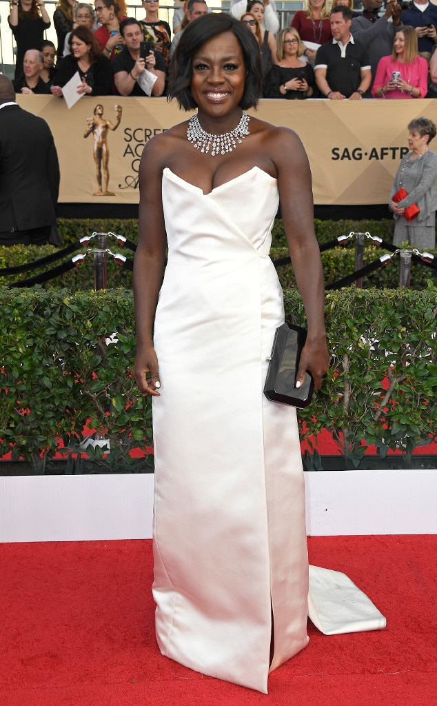 Viola Davis, 2017 SAG Awards, Arrivals