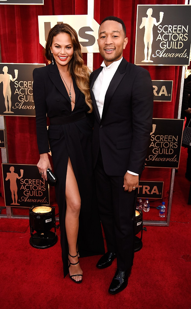 Chrissy Teigen, John Legend, 2017 SAG Awards, Couples
