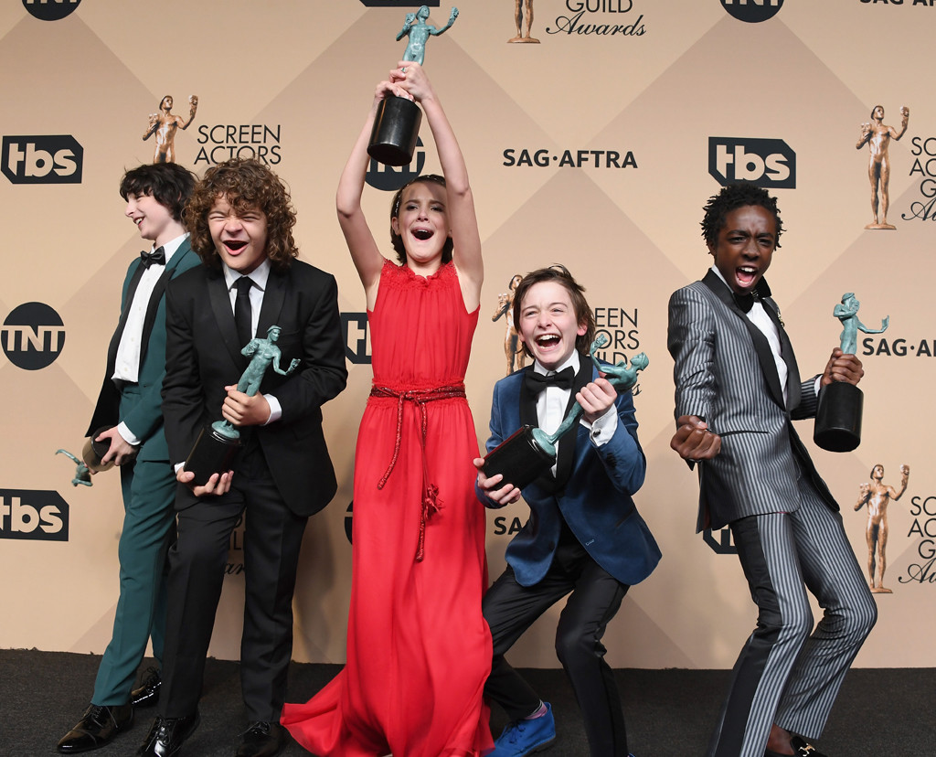 Finn Wolfhard, Gaten Matarazzo, Millie Bobby Brown, Noah Schnapp, Caleb McLaughlin, Stranger Things Kids