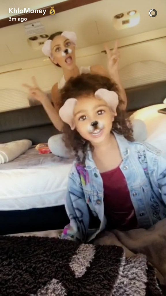 Kim Kardashian, North West, Snapchat