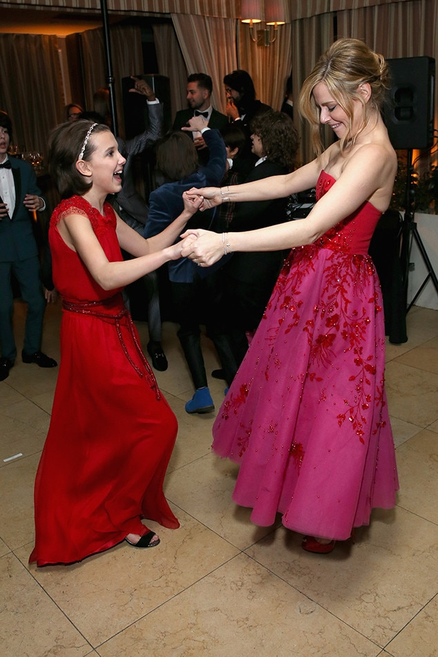 Millie Bobby Brown, Cara Buono, 2017 SAG Awards Party Pics, Stranger Things Kids