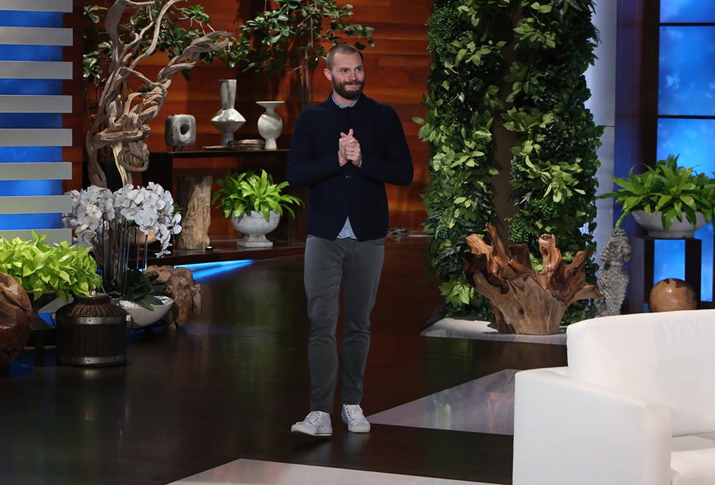 Jamie Dornan and Ellen DeGeneres Substitute Office Supplies for Sex Toys in Fifty Shades Darkest Spoof