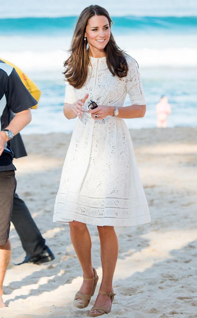 ESC: Kate Middleton, White Dresses