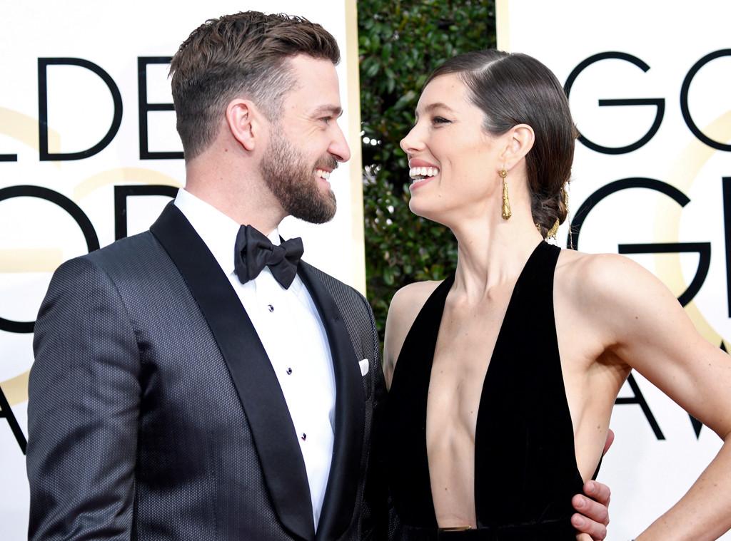 Jessica Biel, Justin Timberlake, 2017 Golden Globes, Candids