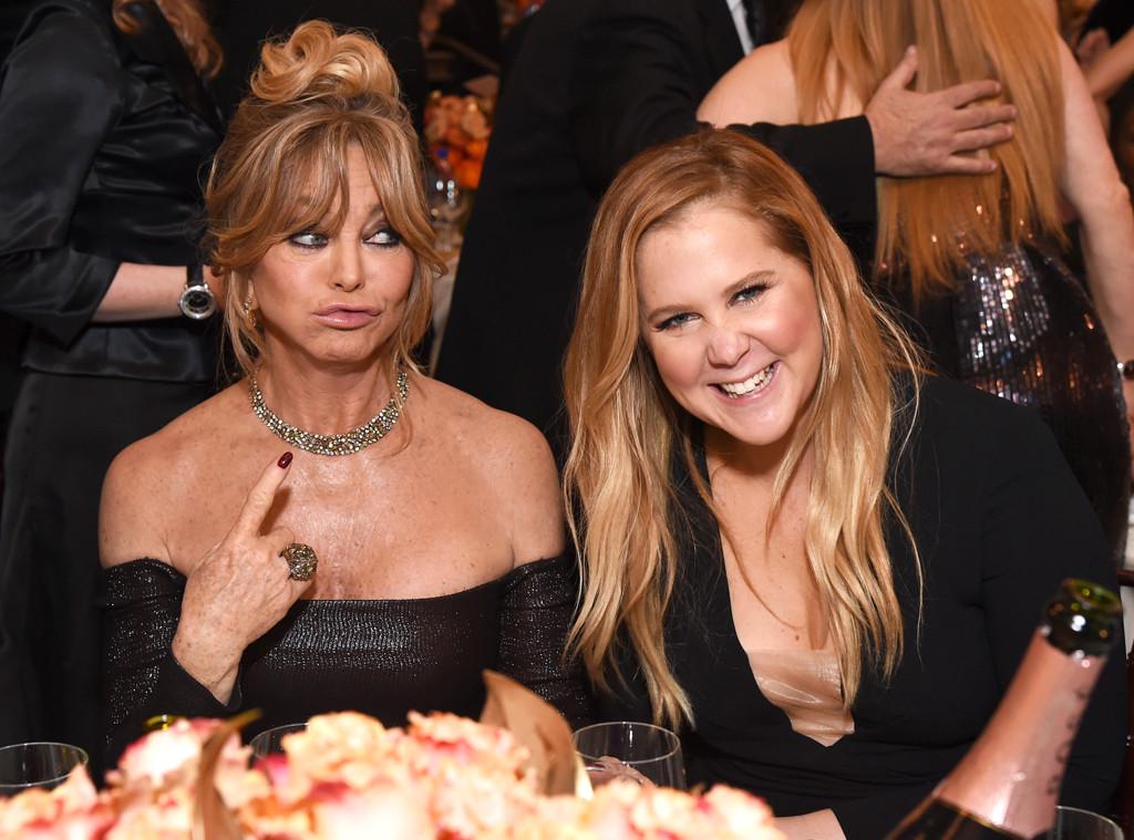 Goldie Hawn, Amy Schumer, 2017 Golden Globes, Candids