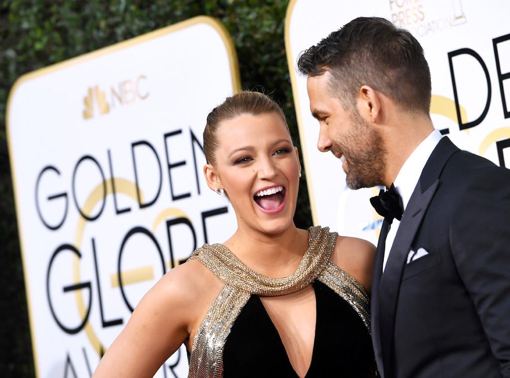 Blake Lively, Ryan Reynolds, 2017 Golden Globes, Candids