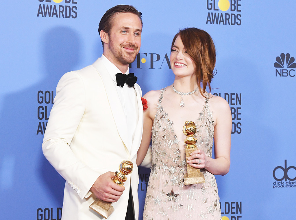 Ryan Gosling, Emma Stone, 2017 Golden Globe Awards, Press Room