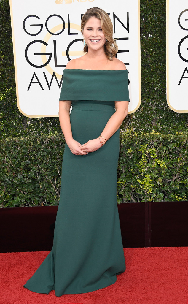Jenna Bush Hager, 2017 Golden Globes, Arrivals
