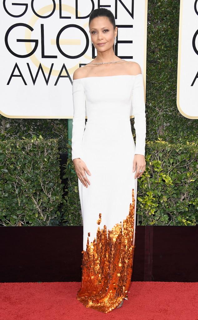 Thandie Newton, 2017 Golden Globes, Arrivals