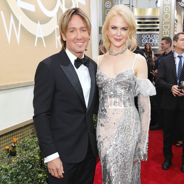 Relationship Advice From Keith Urban And Nicole Kidman: Keith Urban & Nicole Kidman From 2017 Golden Globes: Red