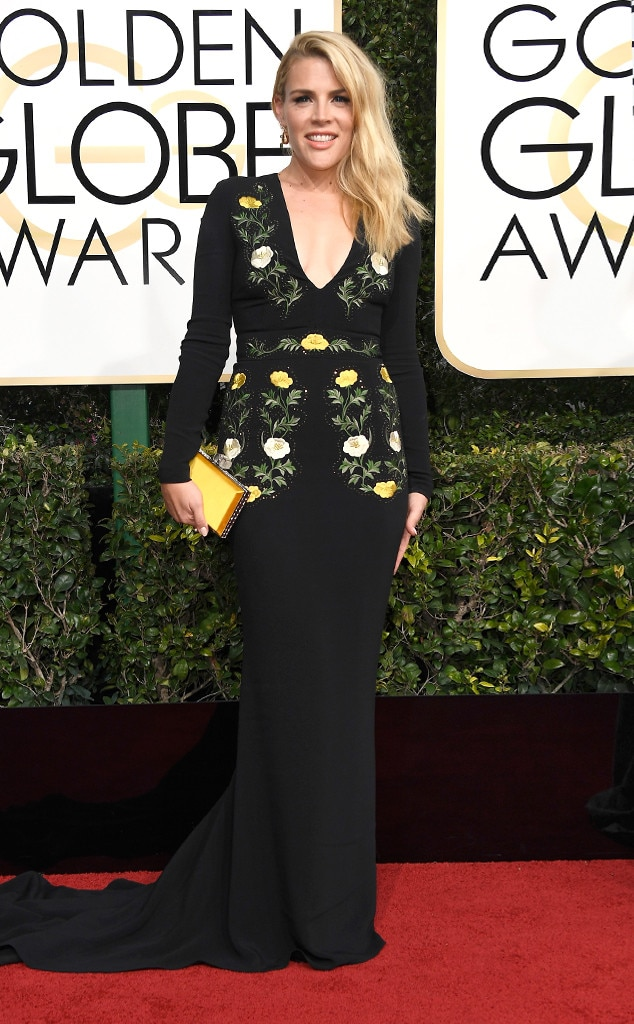 Busy Philipps, 2017 Golden Globes, Arrivals