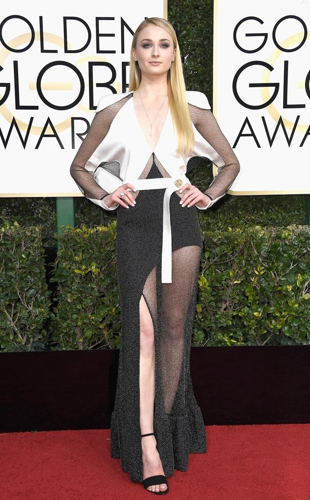 ESC: Sophie Turner, 2017 Golden Globes, Arrivals