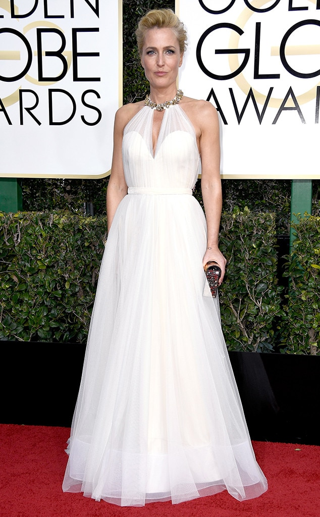 Gillian Anderson, 2017 Golden Globes, Arrivals