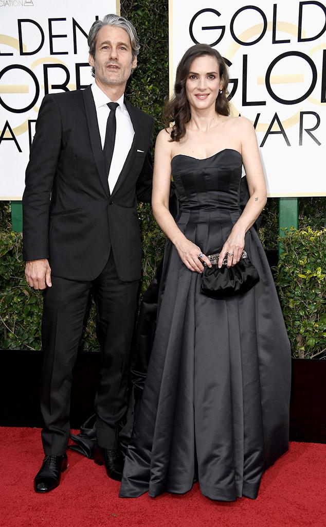 Winona Ryder, Scott Mackinlay, 2017 Golden Globes, Couples