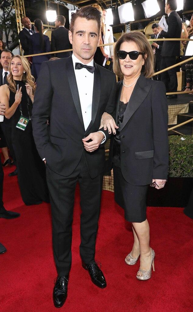 Colin Farrell, Rita Farrell, 2017 Golden Globes, Candids