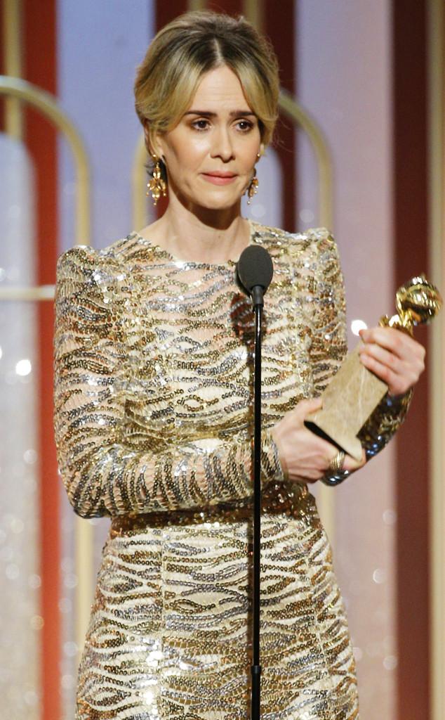 Sarah Paulson, 2017 Golden Globes, Winners