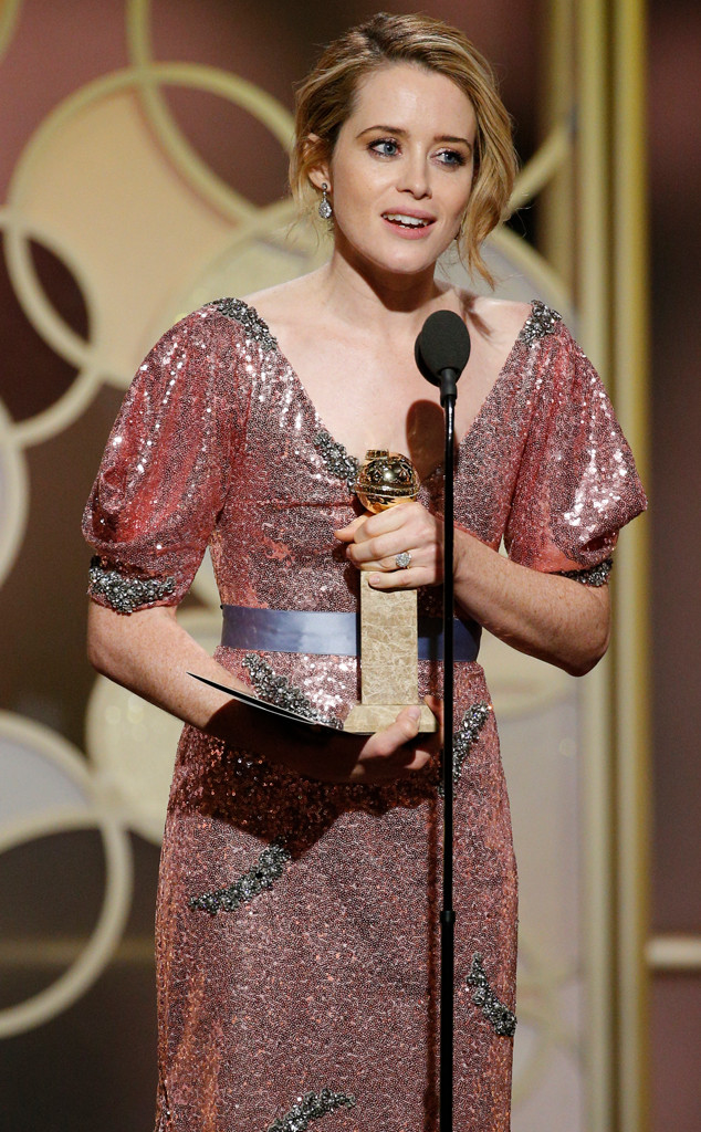 Claire Foy, 2017 Golden Globes, Winners