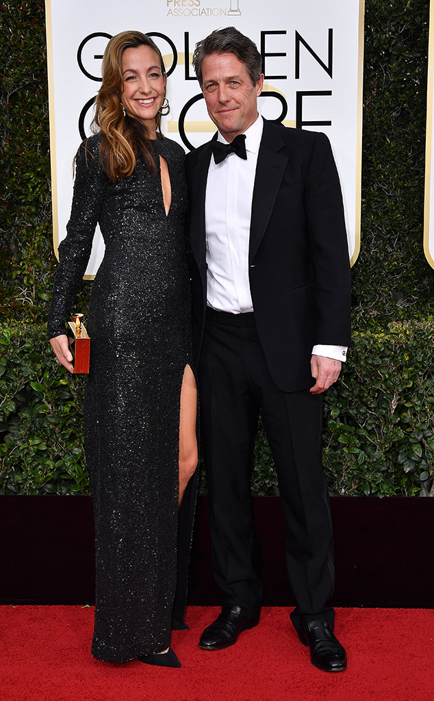 Anna Elisabet Eberstein, Hugh Grant, 2017 Golden Globes, Couples