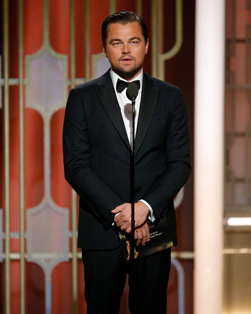 Leonardo DiCaprio, 2017 Golden Globes, Instagram