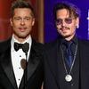 Brad Pitt, Johnny Depp, 2017 Golden Globes