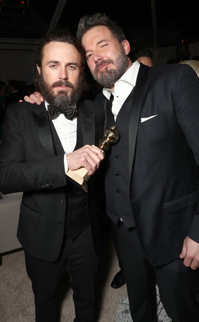 Casey Affleck, Ben Affleck, Golden Globes 2017 Party Pics, Amazon Studios