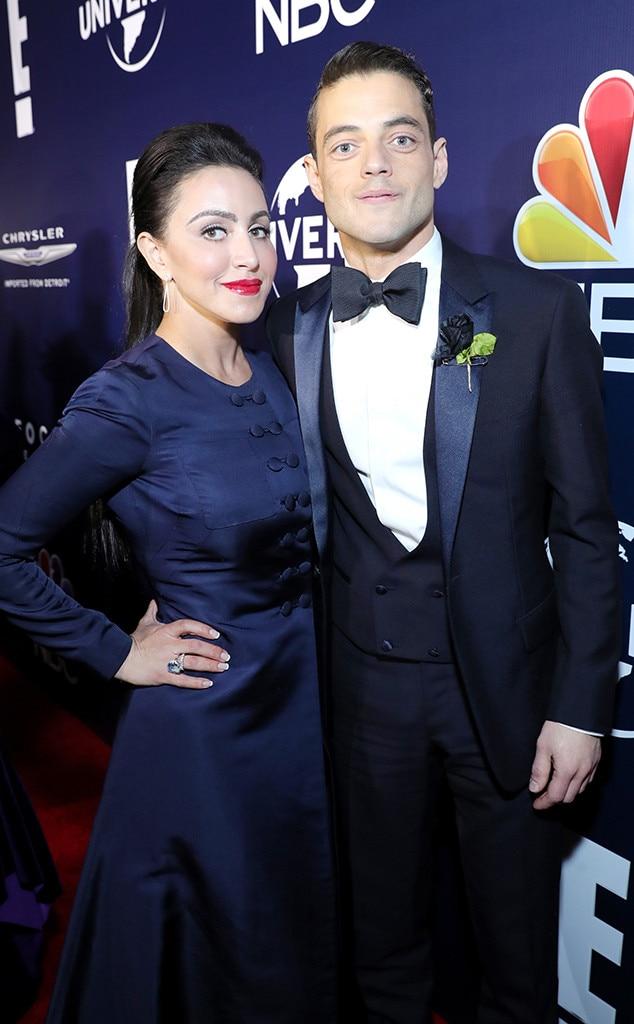 Rami Malek, Sister Jasmine Malek, 2017 Golden Globe After-Party