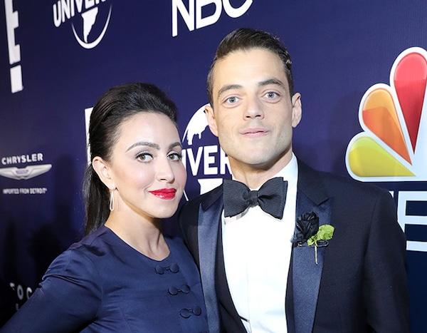 Rami Malek Jasmine Malek From Stars Who Brought Family To The 2017