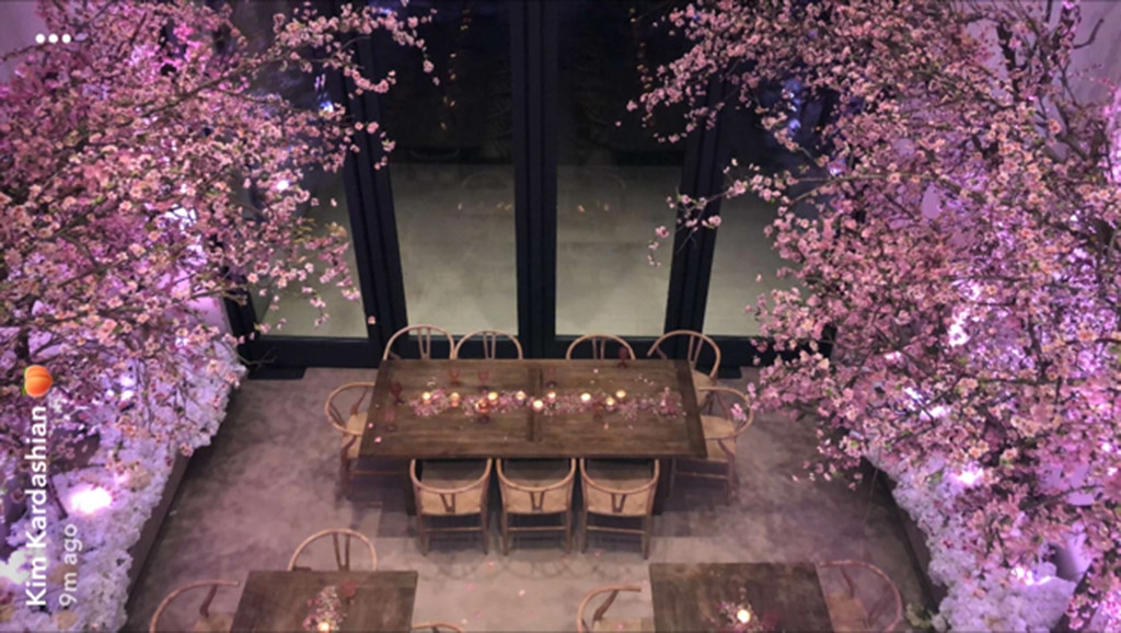 Pretty In Pink From Kim Kardashian S Tea For 3 Baby Shower E News