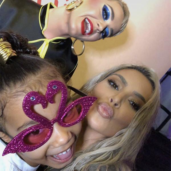 Kim Kardashian, North West, Katy Perry