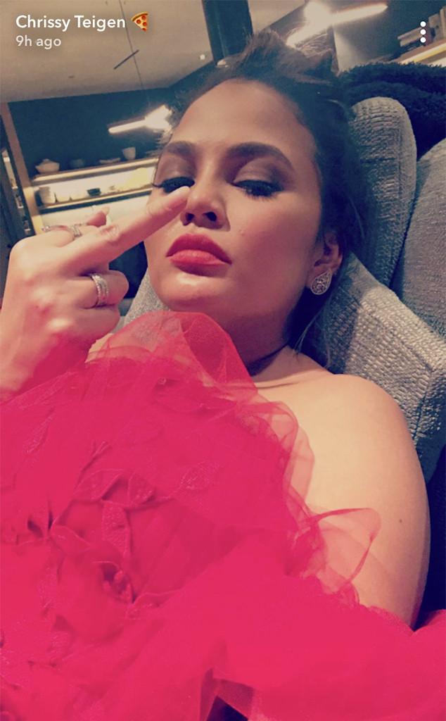 Chrissy Teigen, Baby2Baby Gala 2017, Snapchat