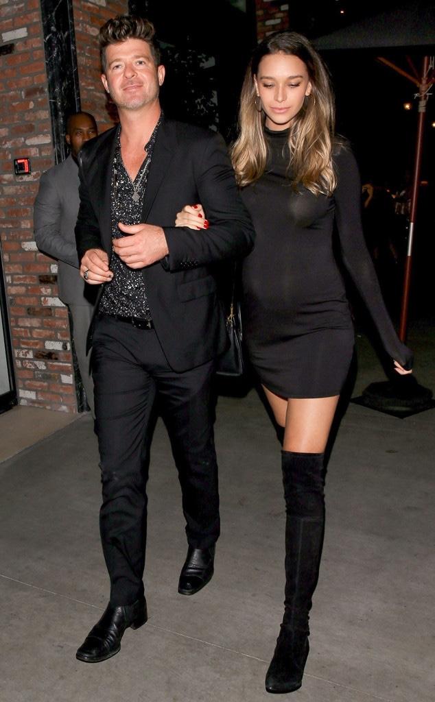 Robin Thicke, April Love Geary, Leonardo DiCaprio's birthday party