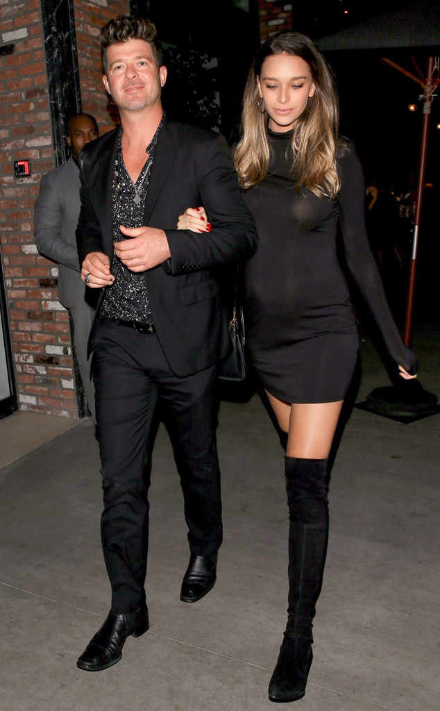 Robin Thicke, April Love Geary, Leonardo DiCaprio's birthday party