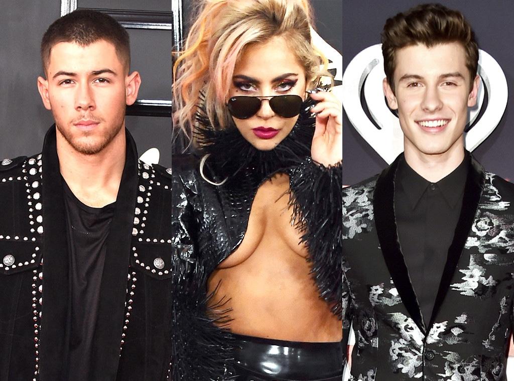 Nick Jonas, Lady Gaga, Shawn Mendes