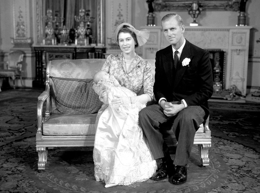 [Queen Elizabeth II, Prince Phillip, Prince Charles, and
