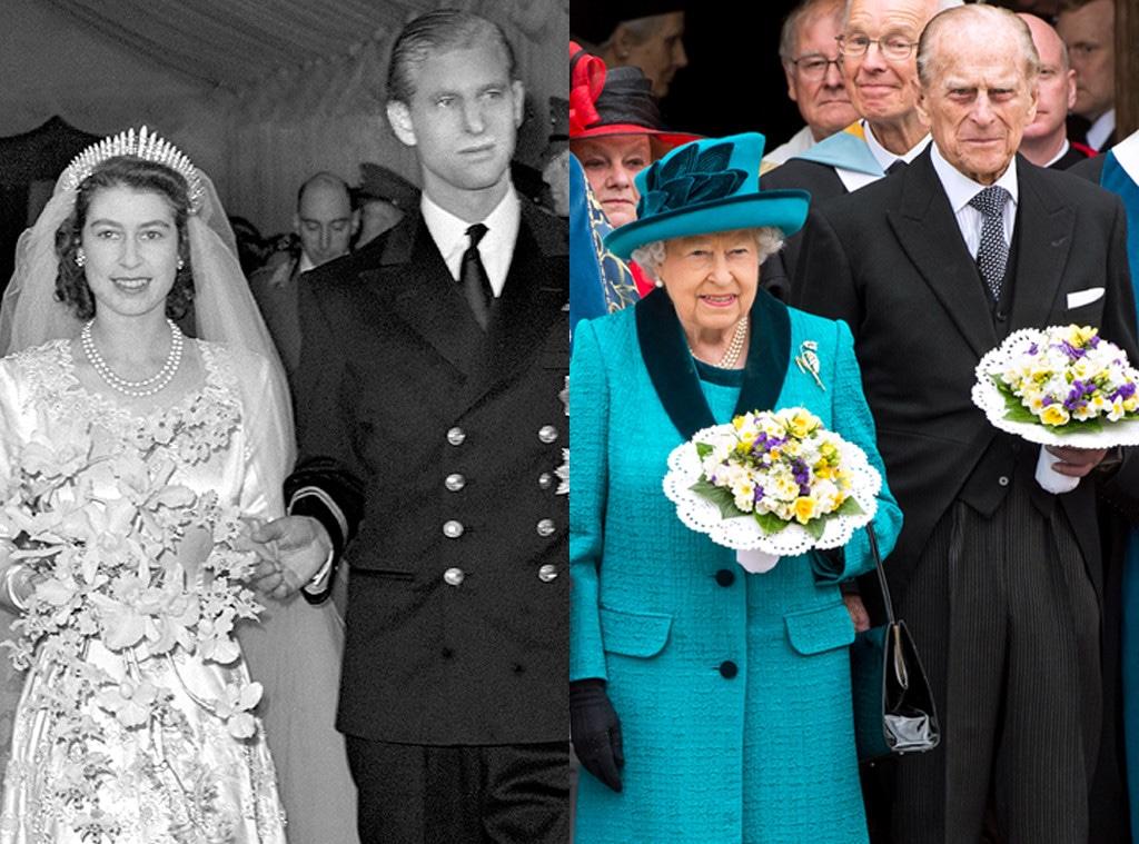 Queen Elizabeth, Prince Philip, Then and Now