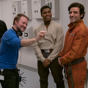 Rian Johnson, John Boyega, Oscar Isaac, Star Wars the Last Jedi