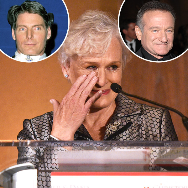 Tearful Glenn Close Says Christopher Reeve Could Have Saved Robin Williams