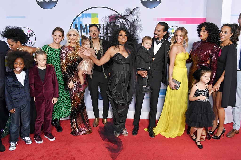 Diana Ross, Evan Ross, Tracee Ellis Ross, American Music Awards 2017, AMAs