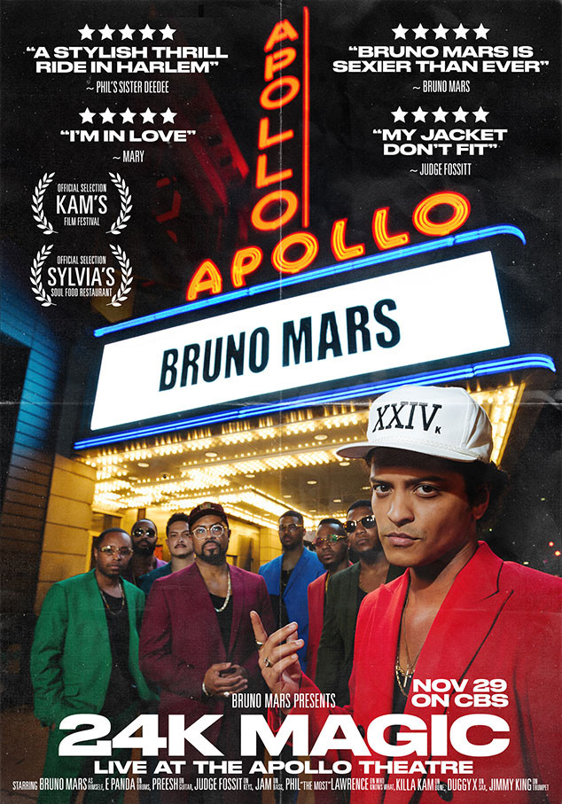 Bruno Mars, Apollo Theater, TV Special