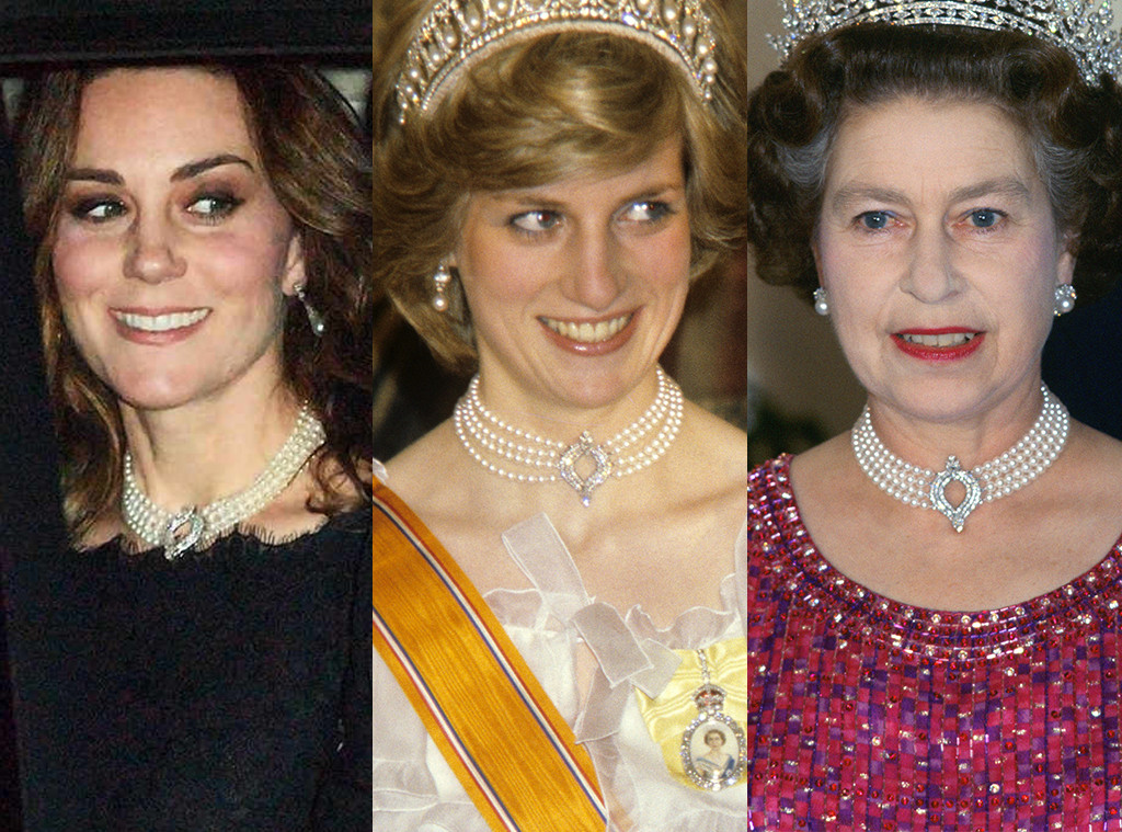 Kate Middleton, Princess Diana, Queen Elizabeth II