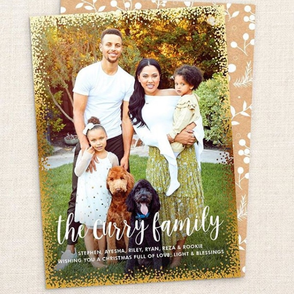 Ayesha Curry, Stephen Curry, Christmas Cards 2017