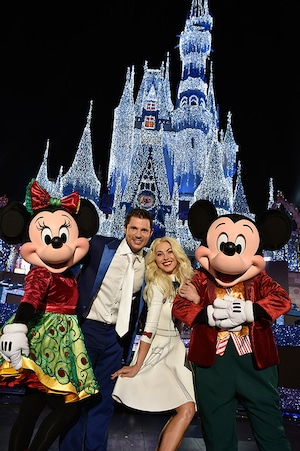 Julianne Hough, Nick Lachey, Mickey Mouse, Minnie Mouse