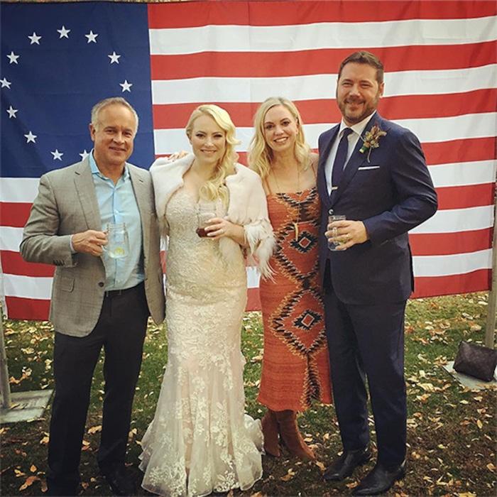 See Meghan Mccains Gorgeous Wedding Dress E News
