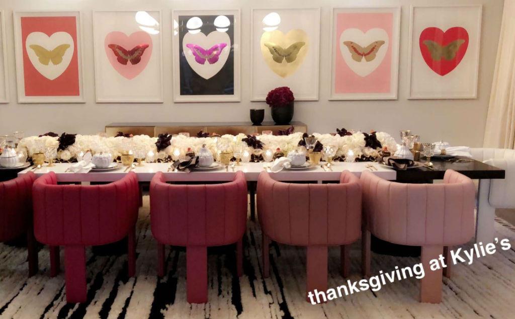 Kylie Jenner Hosts Thanksgiving Dinner For Rob Kardashian