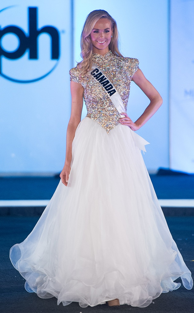 Miss Canada from Miss Universe 2017 Evening Gown Competition   E! News
